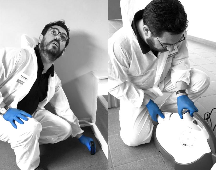 Préparation désinfection par voie aérienne