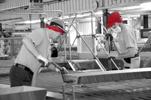 Nettoyage ligne de production